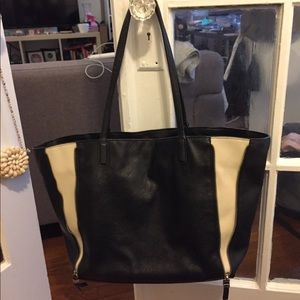 SALE Zara Faux Leather Black Tote